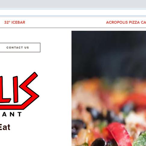 Websites Acropolis Pizza