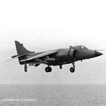 H.S. Sea Harrier FRS1 SHAR about to land