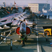 HMS Hermes Leaves For The Falklands War.