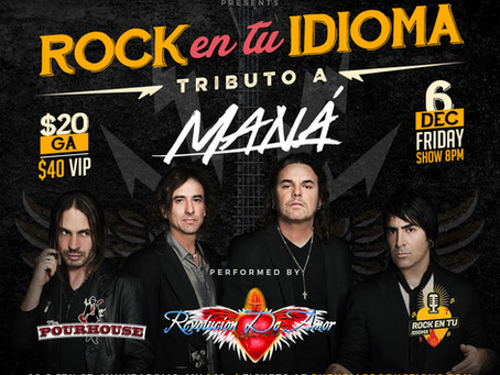 JUST ANNOUNCED! - TRIBUTO A MANA - DECEMBER 6
