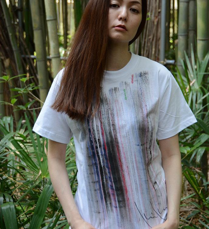 黒滝に紅ーOnly one Kikuko draw t-shirt
