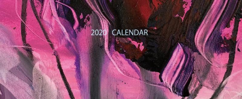 2020卓上カレンダー プラスチックケース入り