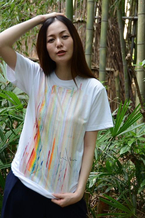 マルチカラー滝ーOnly one Kikuko draw t-shirt