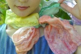 襟元プチスカーフ-ステッチ飾り入