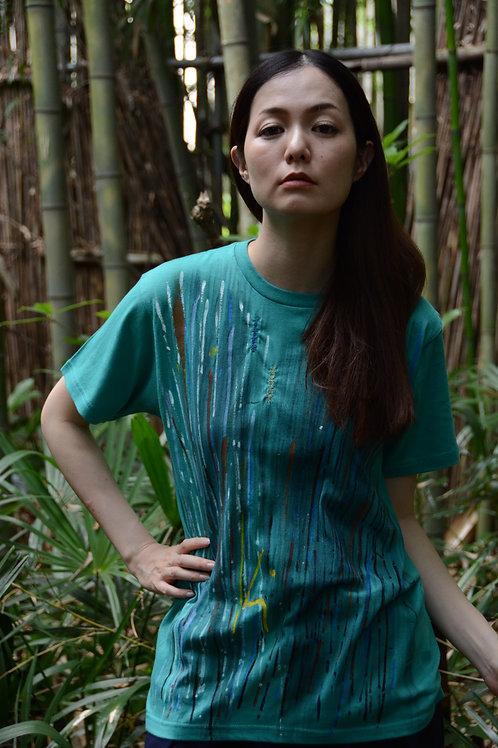 マルチカラーライン+刺繍入り・緑