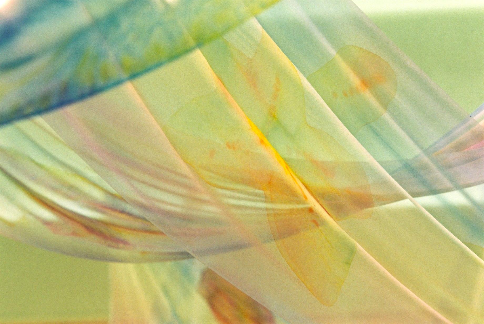 1997.有楽町阪急.8Fギャラリー.水彩画のようなシルク