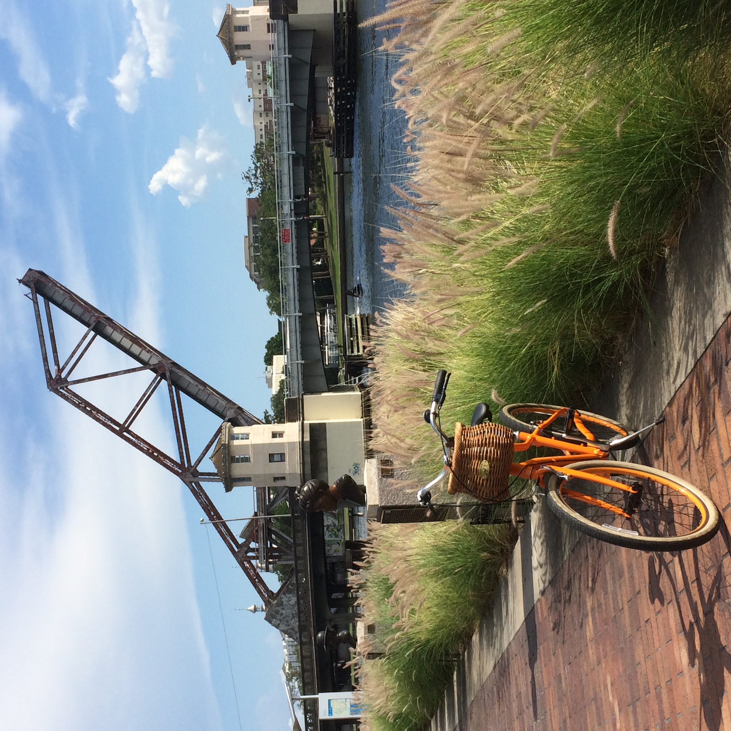 Tampa By Bike at the old rail bridge