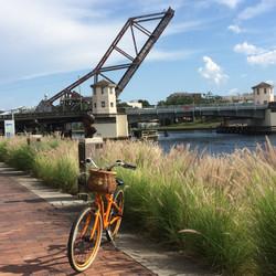 Tampa By Bike at the old rail bridge