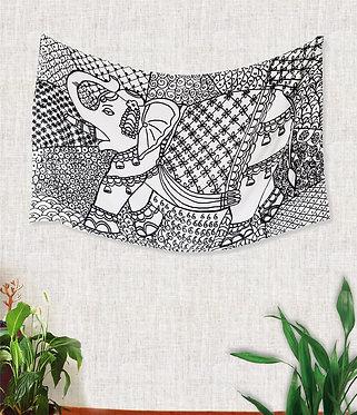 Canga (ou bandeira decorativa) - Estampa Elefante