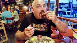 Oysters on the half shell in Florida.