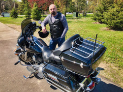 Steve and his Harley-Davidson