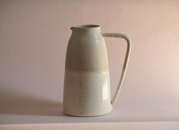 Two tone 'clay form' pitcher