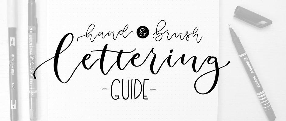 Hand- und Brushlettering Guide für Anfänger eBook