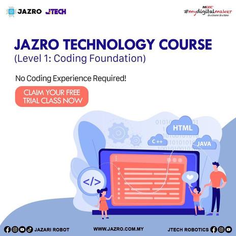 JAZRO TECHNOLOGY COURSES LEVEL 1