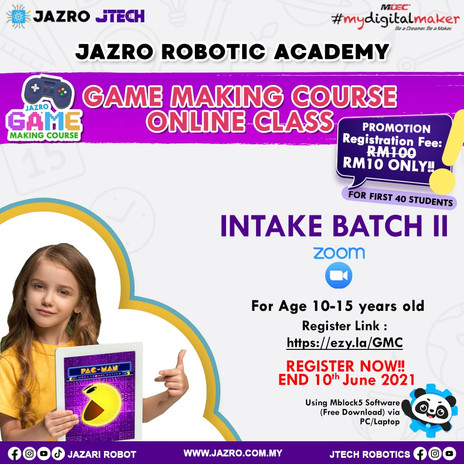 GAME MAKING COURSE ONLINE CLASS FOR KID