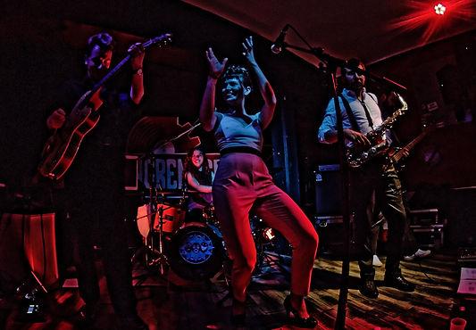 cinq musiciens rock. Ella and the Rednecks se produit a genoble en isere