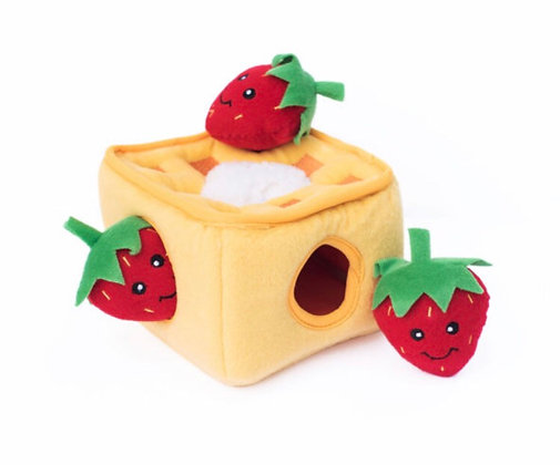 Zippy Paws Strawberry Waffle - Interactive Puzzle Toy