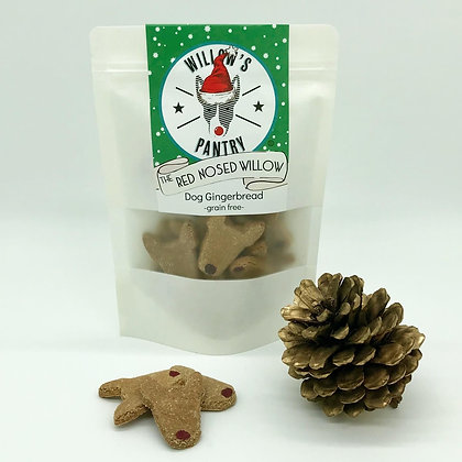 The Red Nosed Willow - Doggy Gingerbread 100g