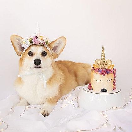 """Unicorn Dog Cake 4"""" - 8"""""""