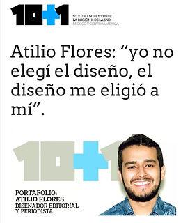 Portafolio: Atilio Flores, Diseñador Editorial y Periodista