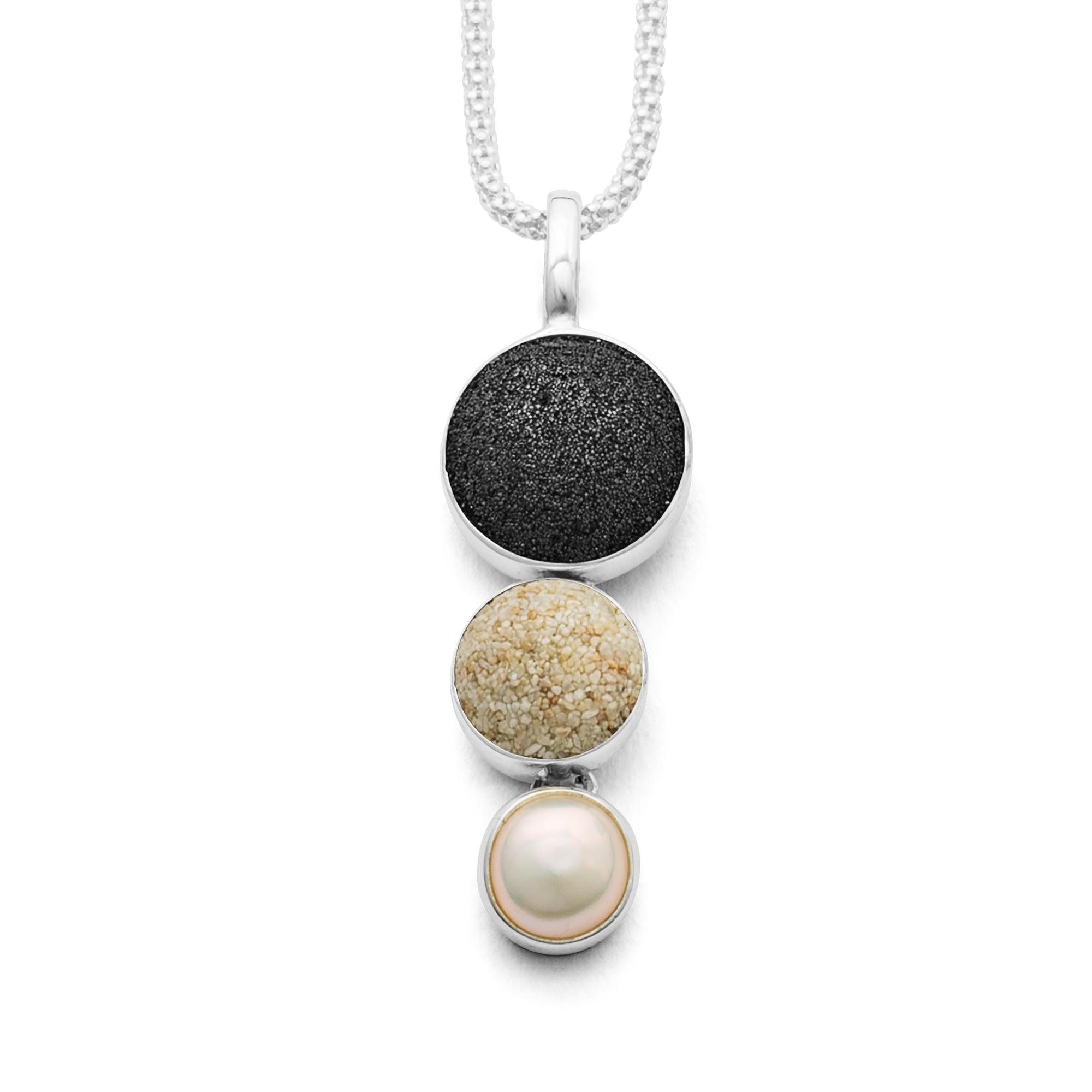 925 Silber mit Vulkan- u. Strandsand