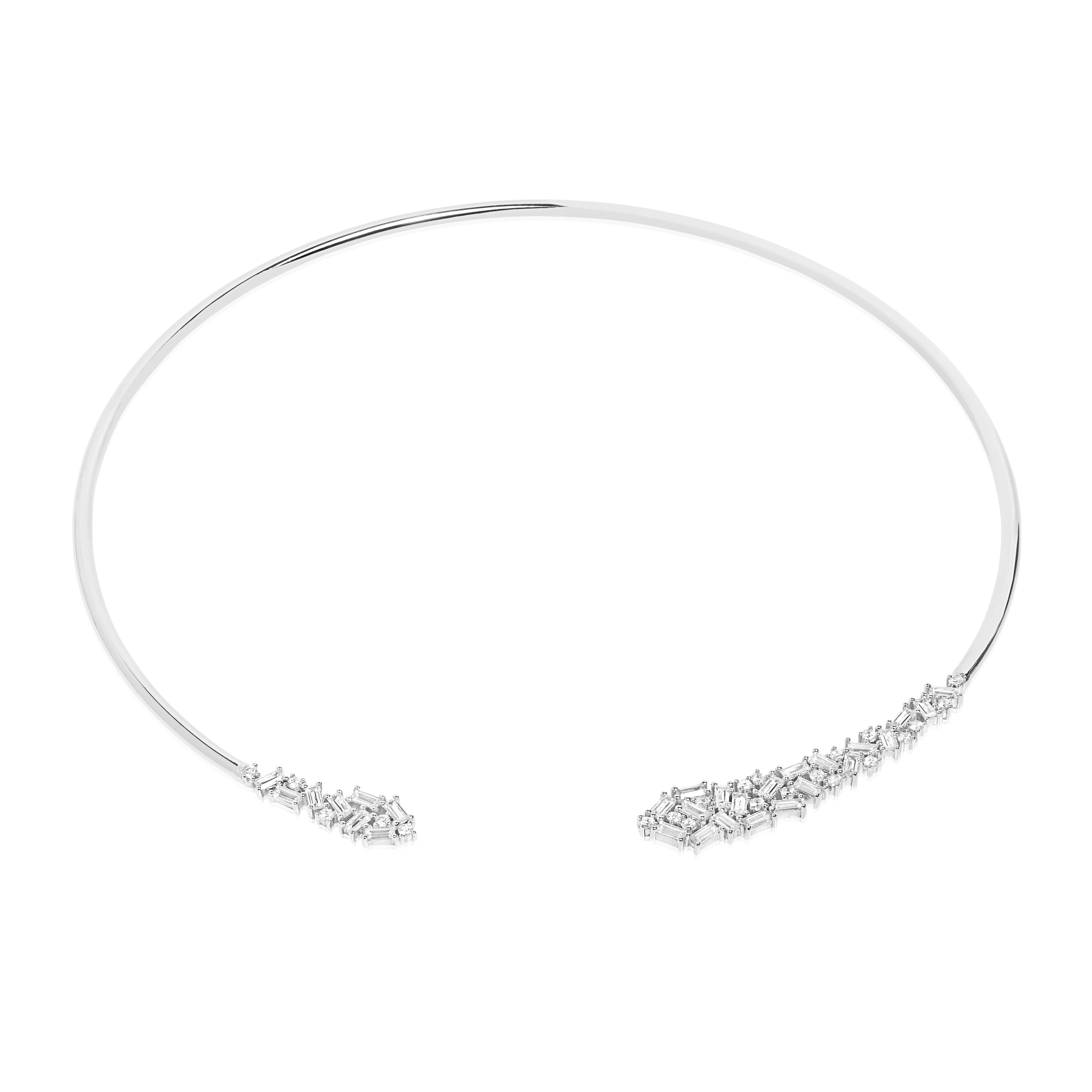 Halsring Antella mit weiß