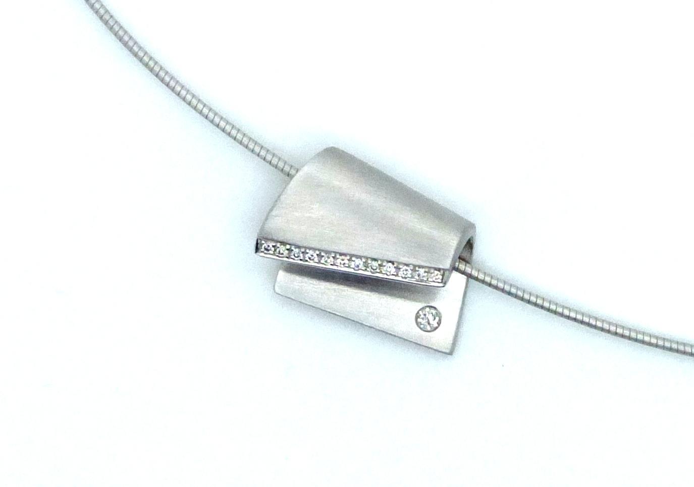 Collier silber Diamant Tonda d