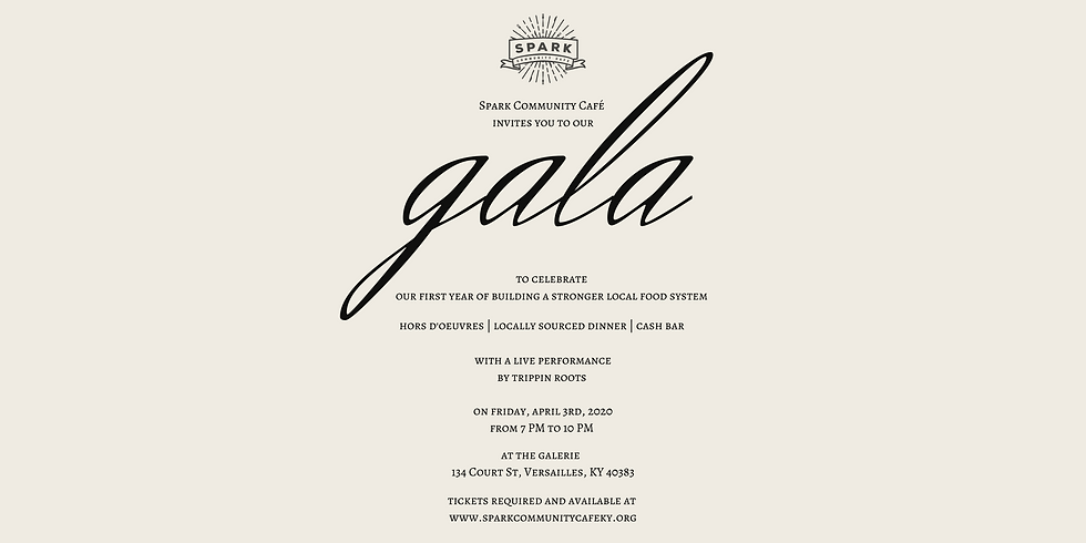 Spark Community Café One Year Gala