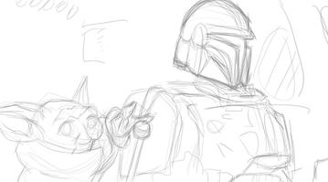 The Mandalorian Sketch 1 of 3