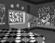 Perspective Drawing Bedroom Grayscale