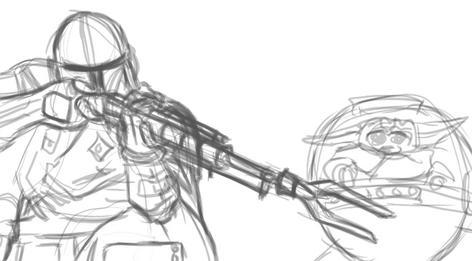 The Mandalorian Sketch 2 of 3