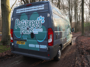 Rear of our mobile spa