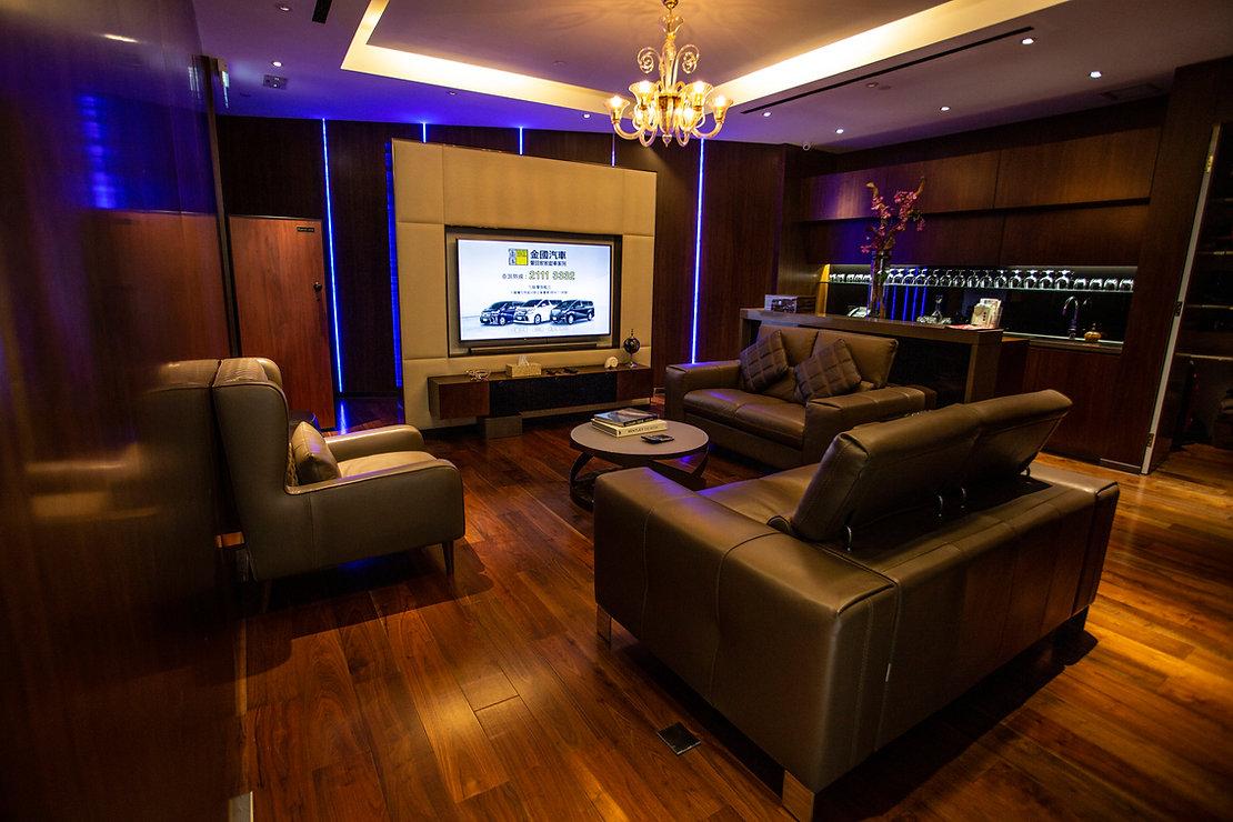 Golden World Motors VIP room in Kowloon Bay Hong Kong