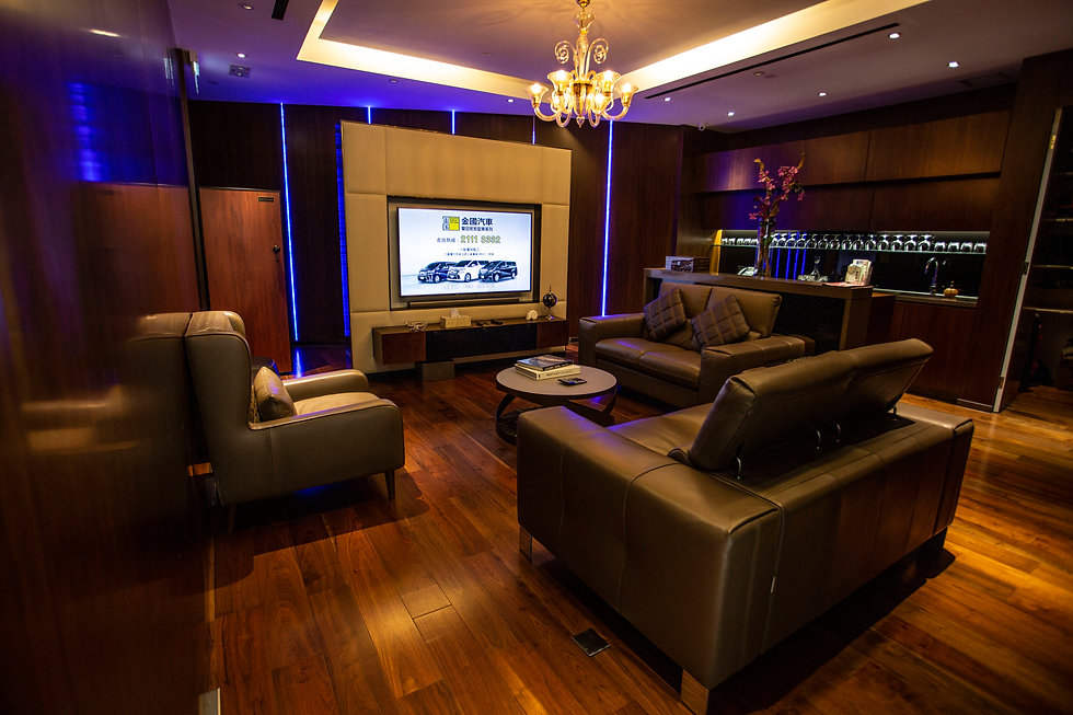 Golden World Motors VIP room in Kowloon Bay Hong Kong