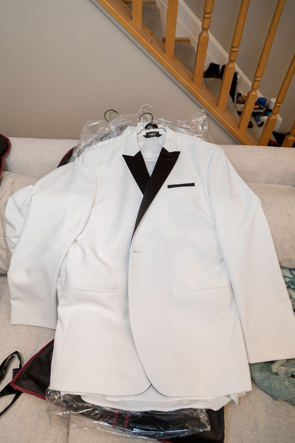 A photo of the groom's formalwear provided by Tuxedo by Sarno in Washington DC.
