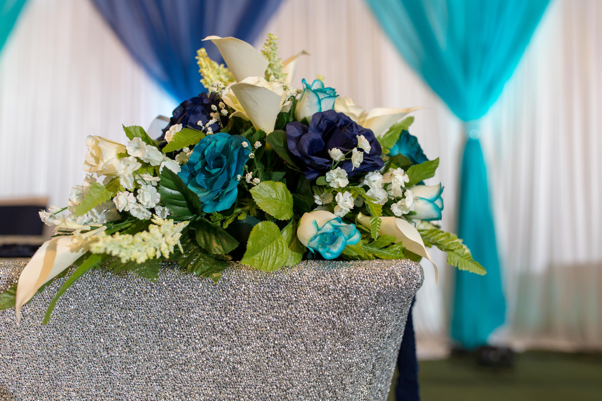 Sweetheart Table Floral Arrangement