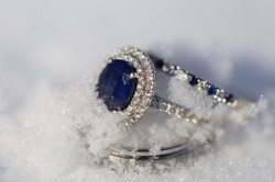 Wedding rings in the snow