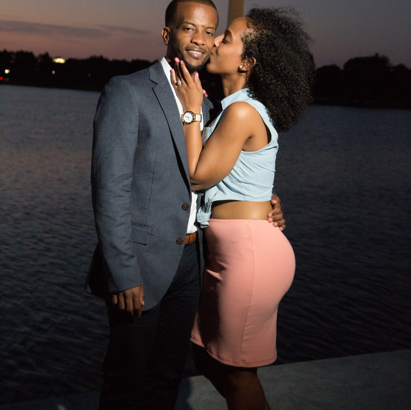 Kaleab and Essete after the proposal.