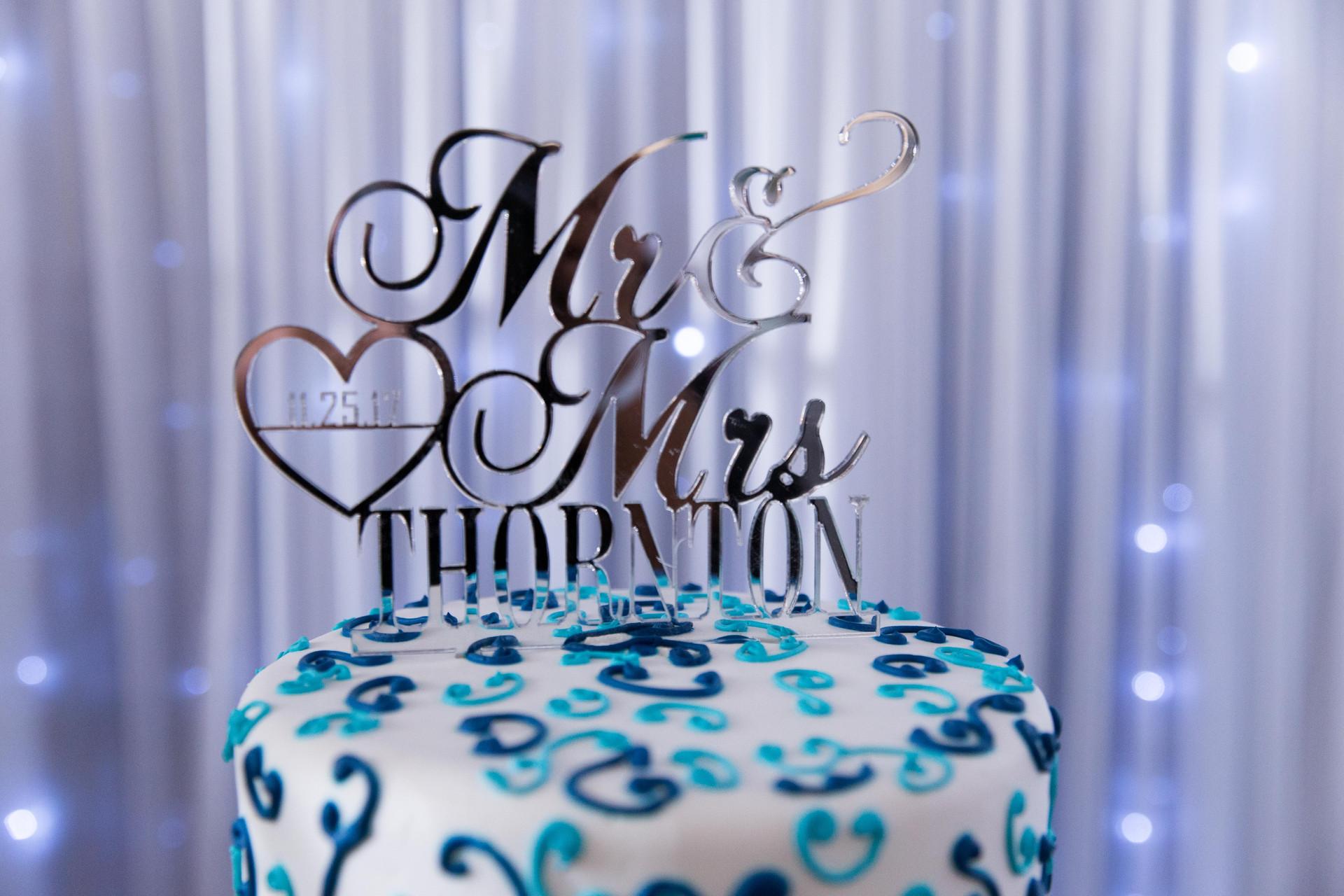 Wedding Cake and Wedding Topper