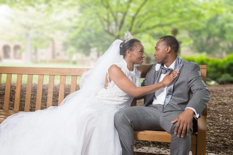 Formal wedding photo session in Williamsburg, Virginia