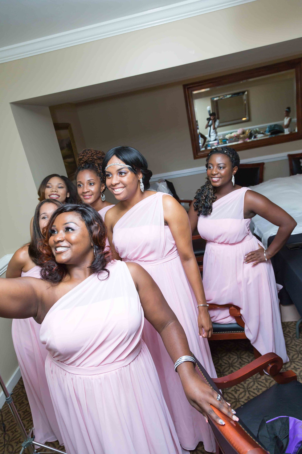 Bridesmaids ready for the wedding