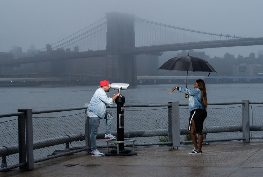 After the Proposal in Brooklyn, New York.