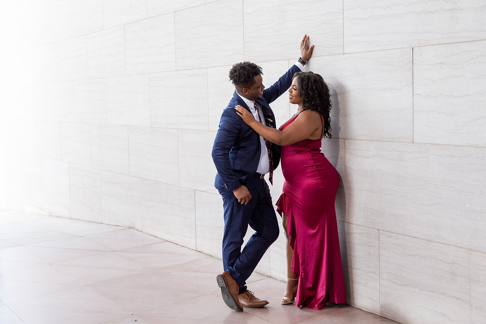 Engagement Session in front of the National Gallery of Art in Washington DC