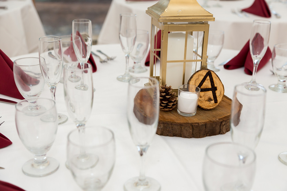 A reception table ready before a wedding.