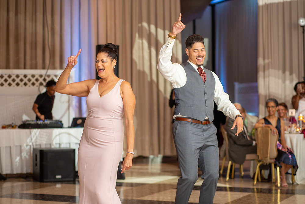 Groom and his mother share special dance during the wedding reception at Martin's Crosswinds in Greenbelt, Maryland.