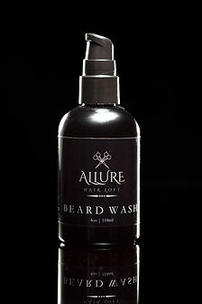 Product photography for Allure Hair Loft Beard Wash in Alexandria, Virginia.