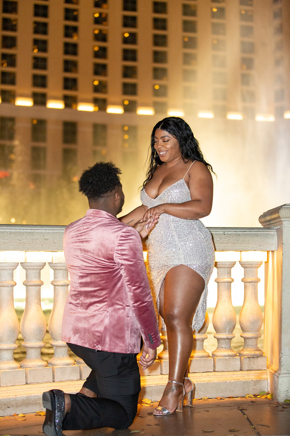 Proposal at the Ballagio Fountains in Las Vegas