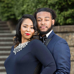Couple posing during their engagement session at Meridian Hill Park in Washington DC.