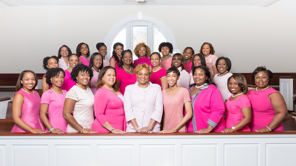 The ladies of the Chi Beta Omega Chapter of Alpha Kappa Alpha Sorority Incorporated pose for their annual portraits in Northern Virginia.