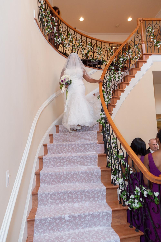 The bride entering the wedding ceremony in Fairfax, Virginia.